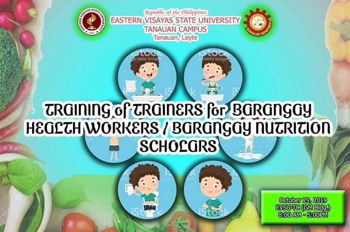 Seminar/Training on Barangay Health Workers / Barangay Nutrition Scholars